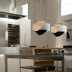 Tourbillon large suspension lamp by Zaneen lighting in black application photo