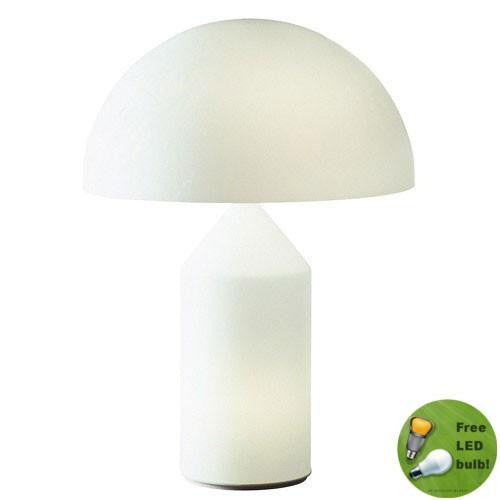 Atollo white table lamp by Vico Magistretti for Oluce