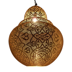 BURJ PENDANT LIGHT MATT BRASS 70CM