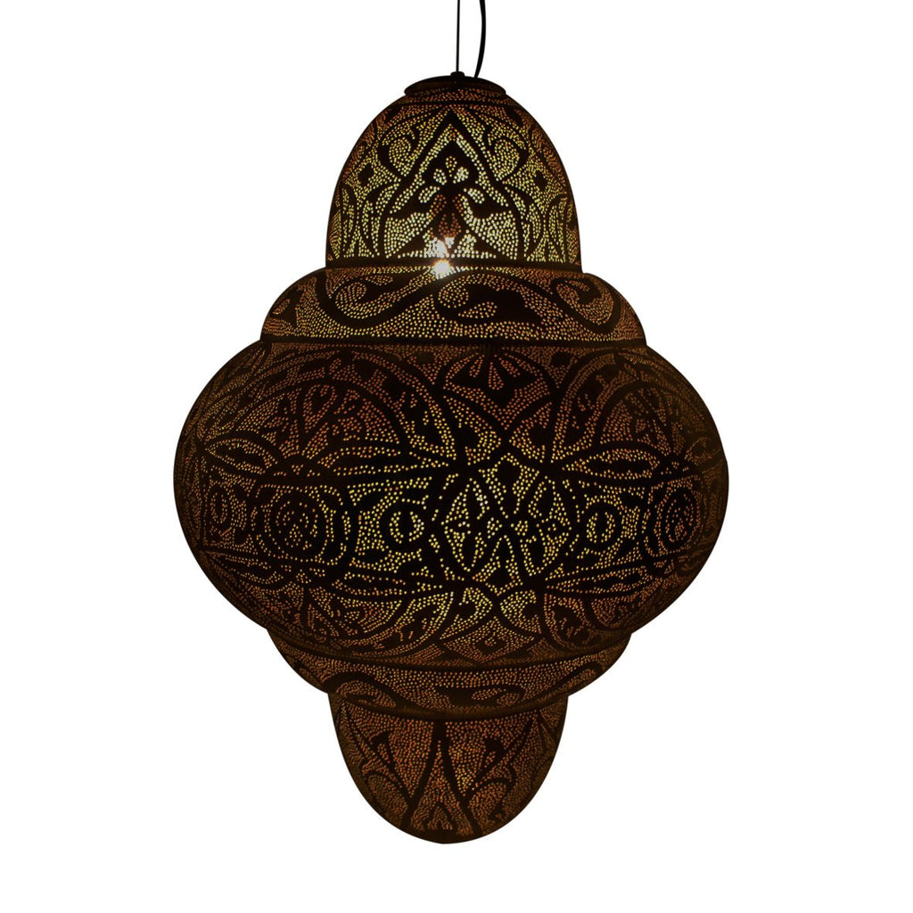 BURJ PENDANT LIGHT ANTIQUE BRASS 85CM