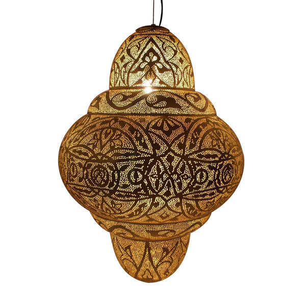 BURJ PENDANT LIGHT ANTIQUE BRASS 85CM - Pendant - ASWAN INTERNATIONAL - Lumigado Lighting