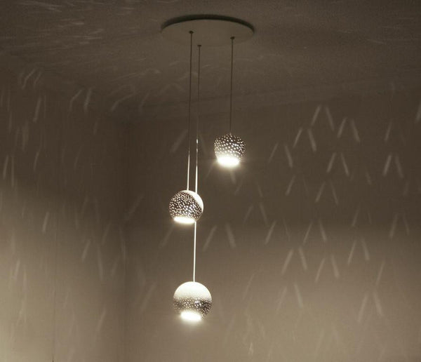 Claylighting Cluster Dot Pattern a Ceiling by Lightexture - Lumigado lighting