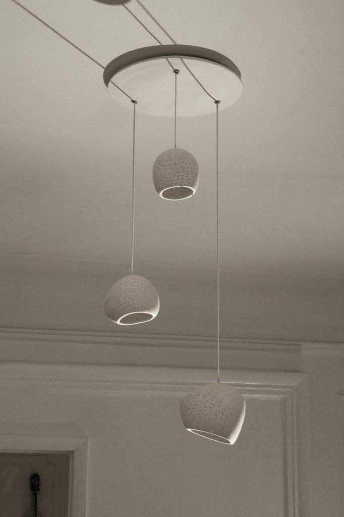 Claylighting Cluster in a Line Pattern