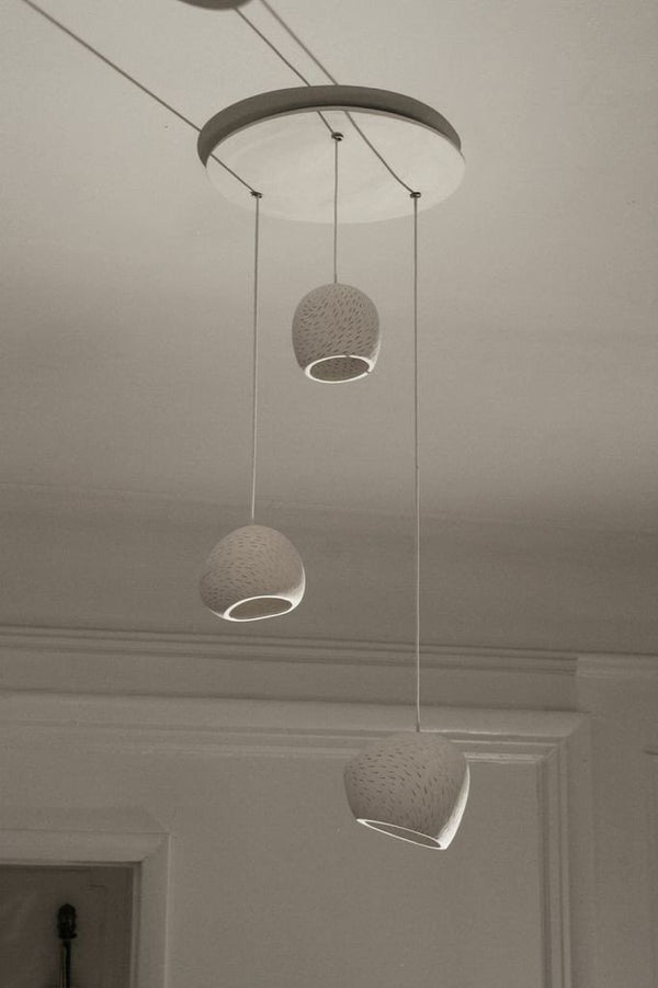Claylighting Cluster in a Line Pattern a Ceiling by Lightexture - Lumigado lighting