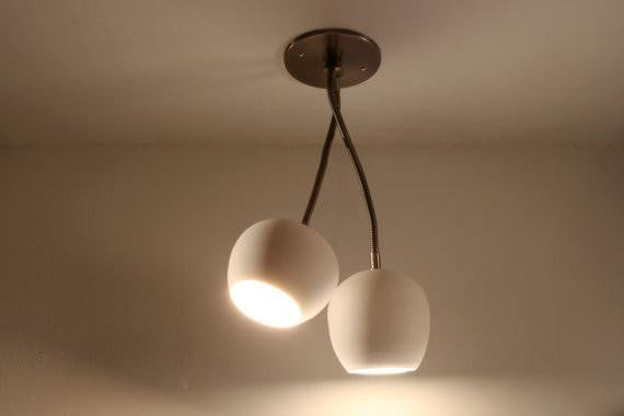 Claylight Double Spot Ceiling Lighting by Lightexture