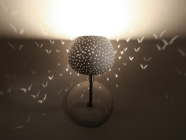 Claylight Sconce - Dot Pattern a Wall light by Lightexture - Lumigado lighting