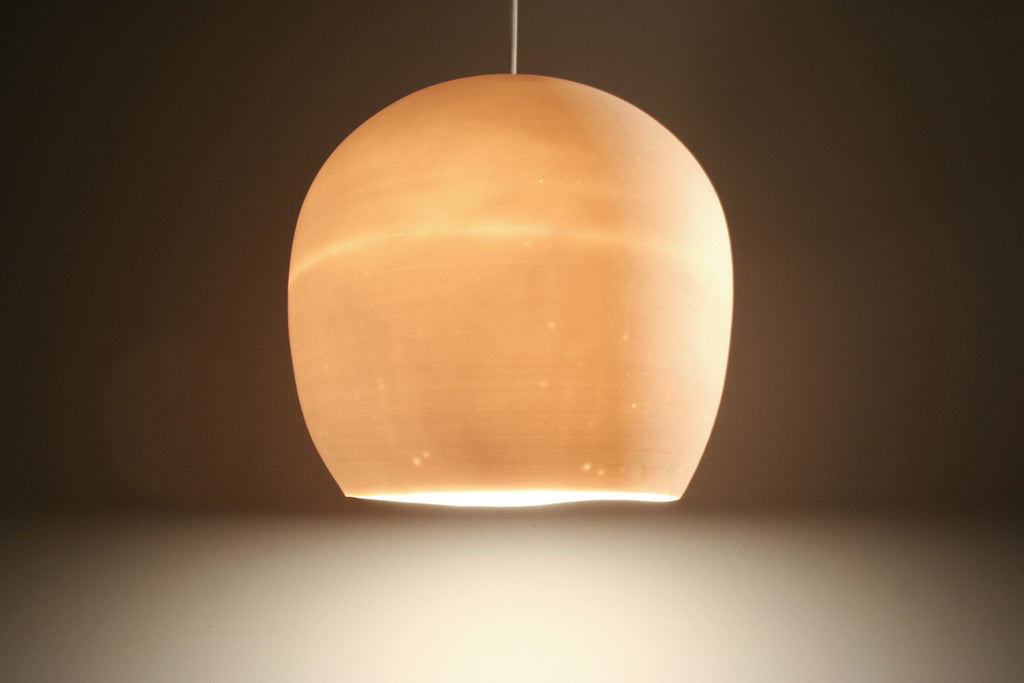 Claylight Symmetrical porcelain pendant by Lightexture