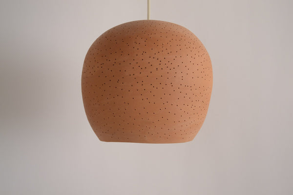 Claylight Symmetrical in terra cotta a Ceiling by Lightexture - Lumigado lighting