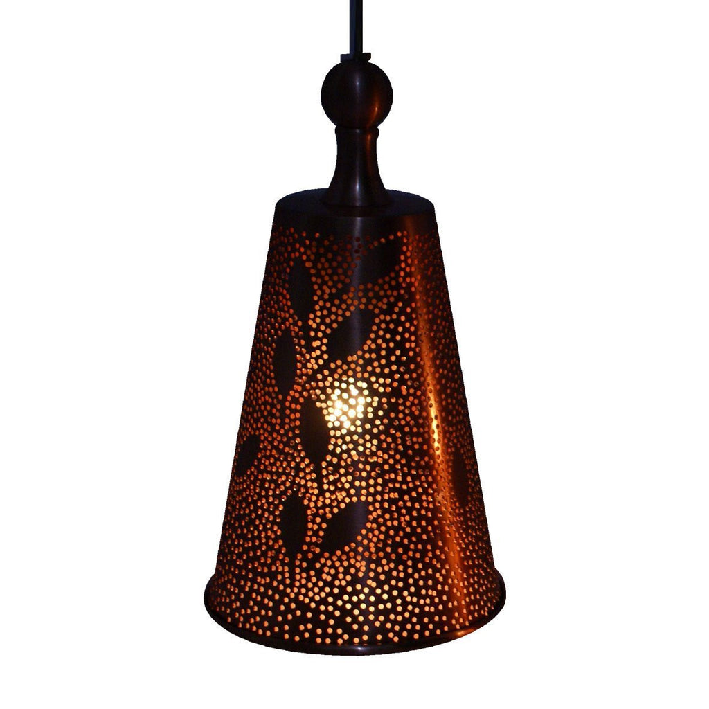 CONE PENDANT LIGHT MATT COPPER 20CM