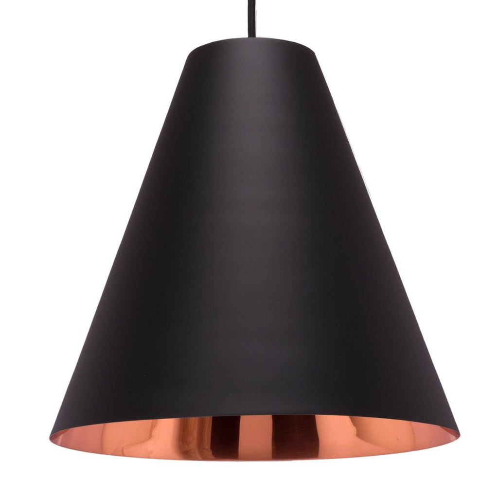 CONE PENDANT LIGHT BRIGHT BRASS 30CM