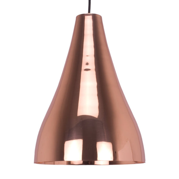 CONE PENDANT LIGHT BRIGHT BRASS 38CM a Pendant by ASWAN INTERNATIONAL - Lumigado lighting