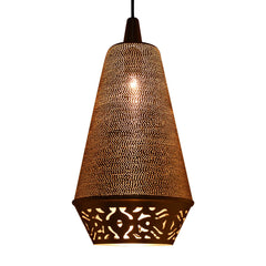 CONE PENDANT LIGHT MATT BRASS 47CM