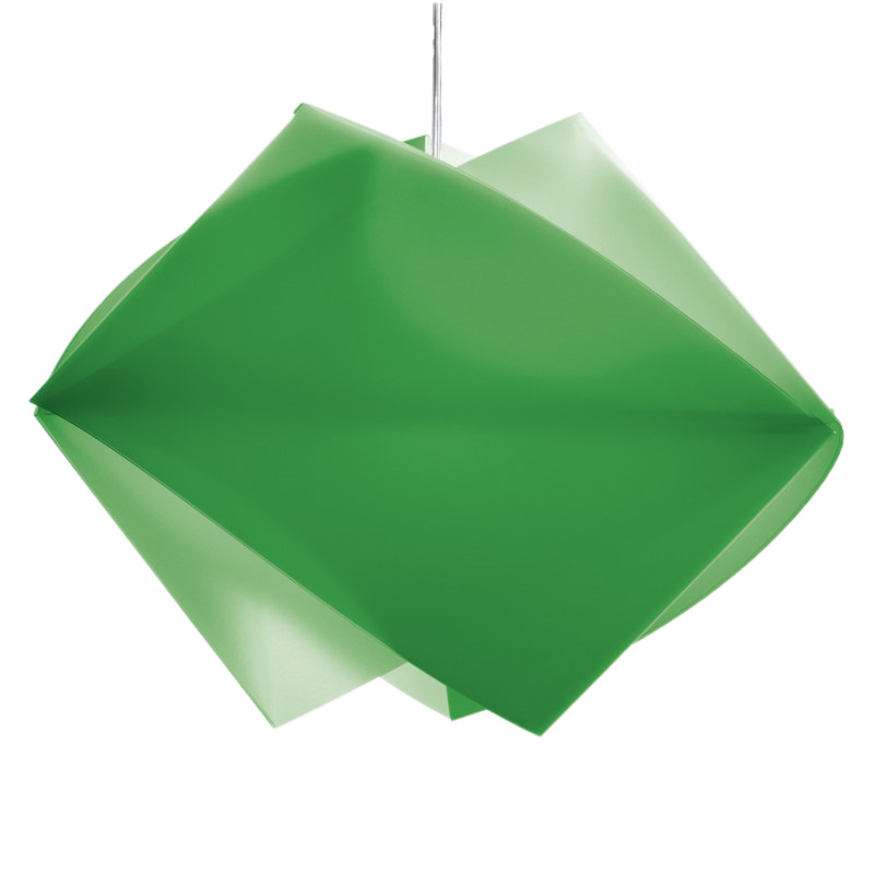 Gemmy Green Pendant by A.Spalletta-C.Croce-T.Ragnisco-M.Wijffels for Slamp by Zaneen