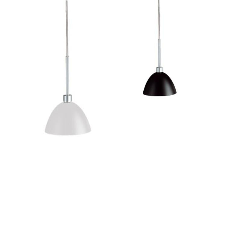 WILLY ceiling pendant in black or white glass by Enzo Panzeri for Zaneen Lighting