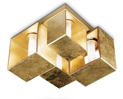 Domino Gold leaf Ceiling lamp by Zaneen