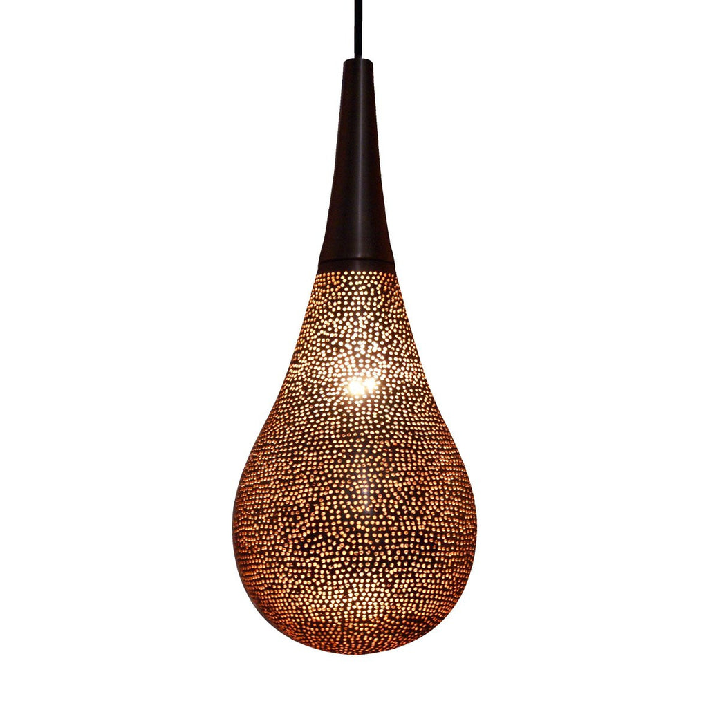DROP PENDANT LIGHT BRIGHT COPPER 40CM