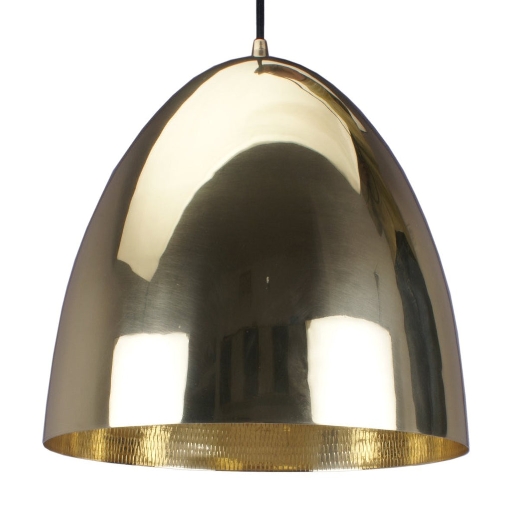 EGG PENDANT LIGHT BLACK / BRASS 30.5CM