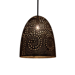 EGG PENDANT LIGHT BRIGHT NICKEL 36CM
