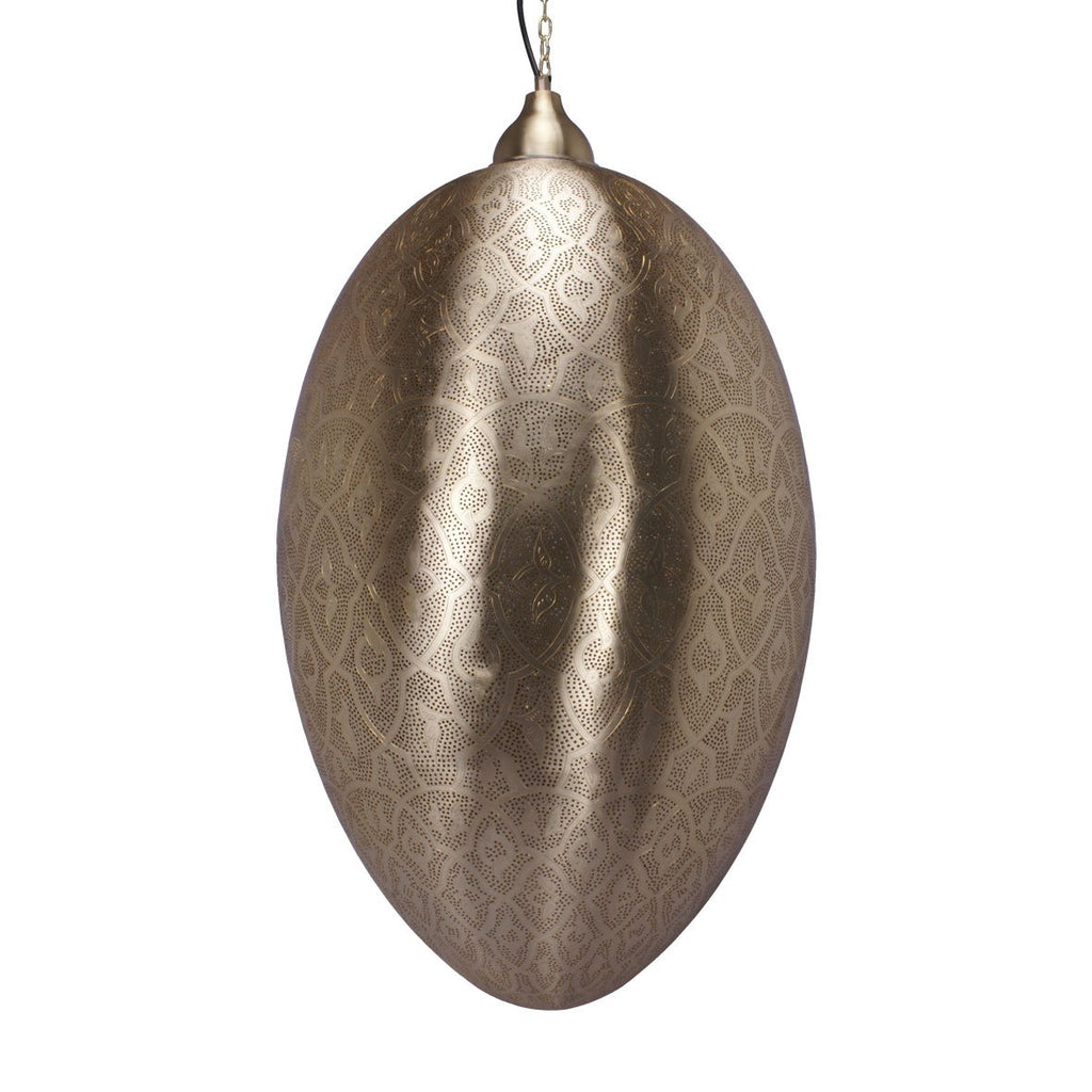 EGG PENDANT LIGHT MATT BRASS 80CM