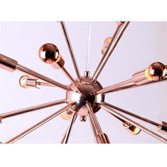 Sputnik chandelier Spark Copper 23 inch Fine mod import  close up