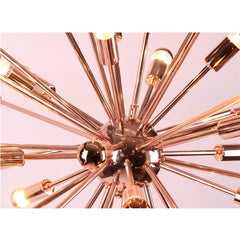 "Large Copper 39"" sputnik chandelier by Fine Modern Imports closeup"