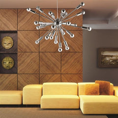 Spark sputnik chandelier in living room setting