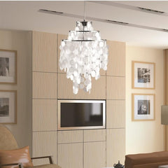 Pearl hanging chandelier 730669628641 FMI9279 by Fine Mod Imports lifestyle