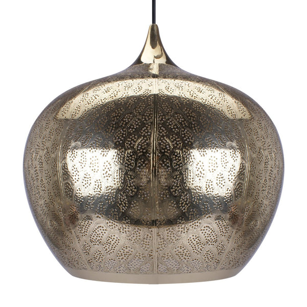 GOBLET PENDANT LIGHT BRIGHT BRASS 38CM a Pendant by ASWAN INTERNATIONAL - Lumigado lighting