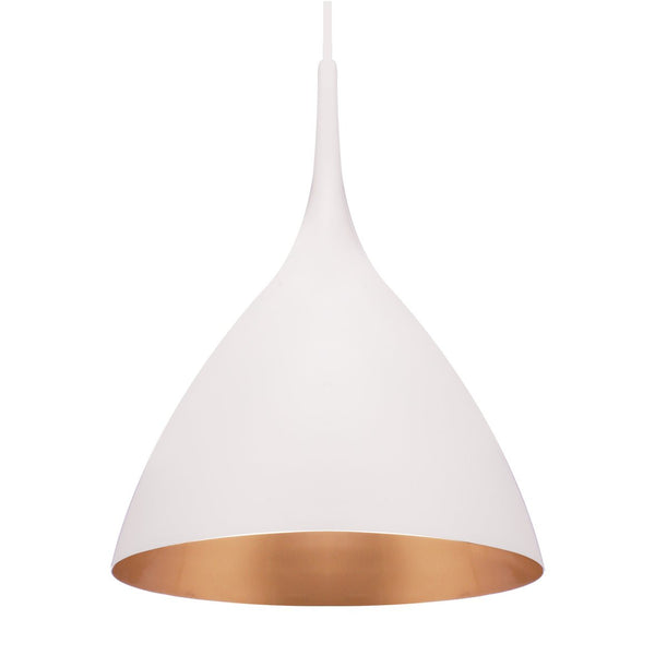 GOBLET PENDANT LIGHT WHITE / GOLD  58CM - Pendant - ASWAN INTERNATIONAL - Lumigado Lighting