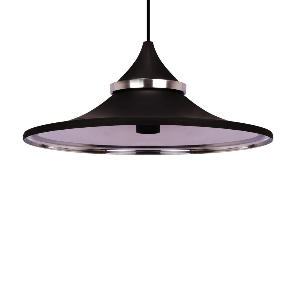 HAT PENDANT LIGHT BLACK  / NICKEL  37CM