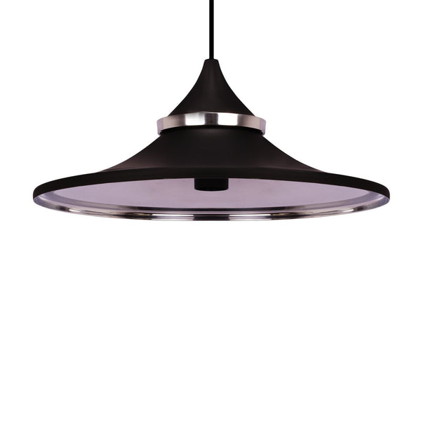 HAT PENDANT LIGHT BLACK  / NICKEL  37CM a Pendant by ASWAN INTERNATIONAL - Lumigado lighting