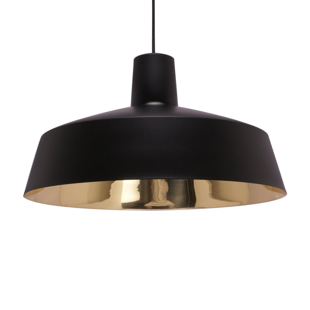 INDUSTRIAL PENDANT LIGHT BLACK  /  BRASS  46CM