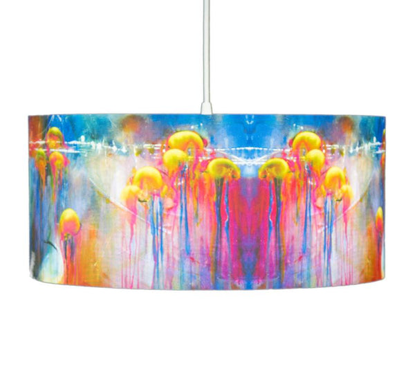 Jellies colorful drum Pendant by Rowan Chase - Lumigado lighting