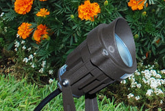 5w Bullet LED Flood light LED-FL-5-BL-12 by Lightcraft Outdoor in garden