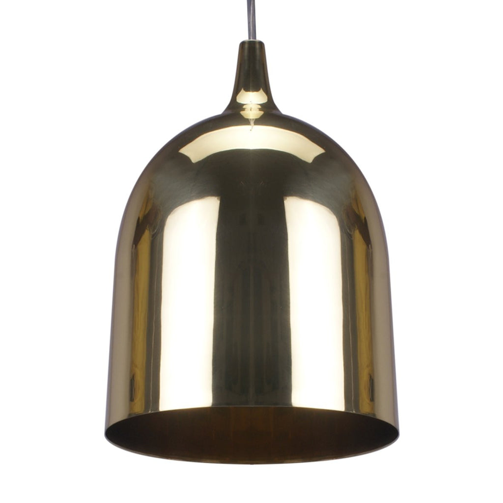 LUMI-R PENDANT LIGHT BLACK / BRASS 27CM