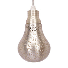MISBAH PENDANT LIGHT MATT SILVER 20CM
