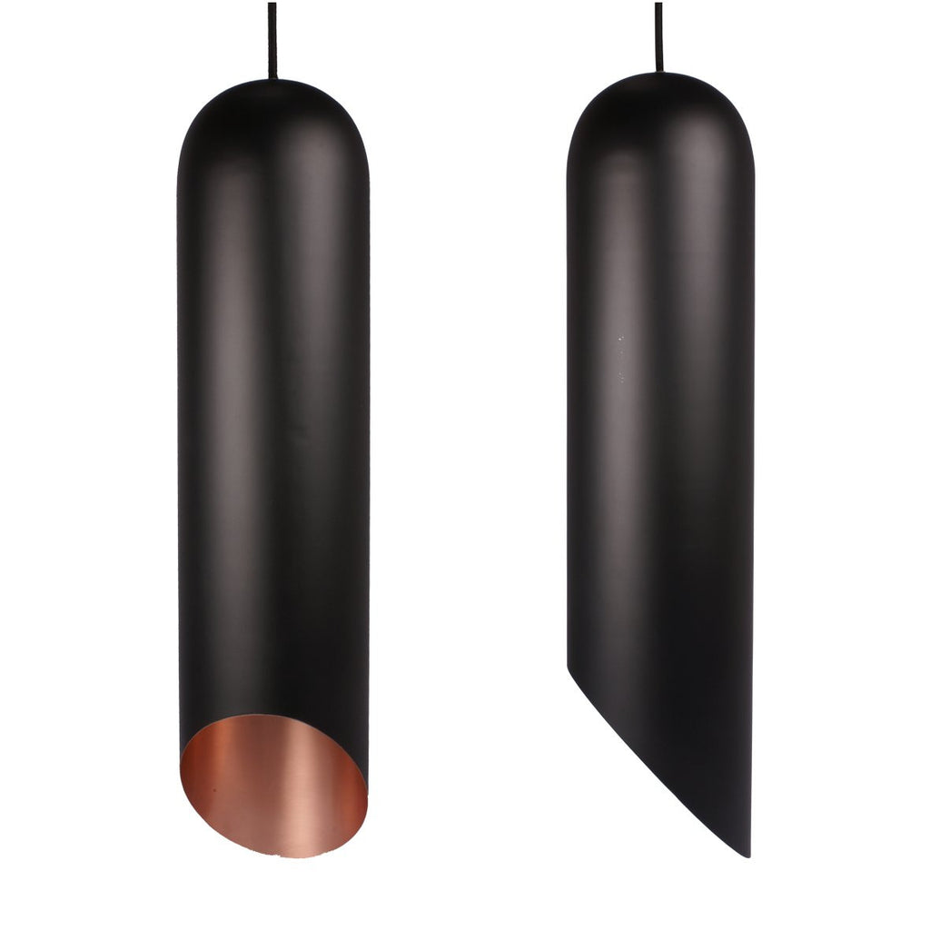NIB PENDANT LIGHT BLACK / BRASS 65 CM