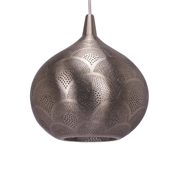 TT PADDLE PENDANT LIGHT MATT NICKEL 37CM a Pendant by ASWAN INTERNATIONAL - Lumigado lighting