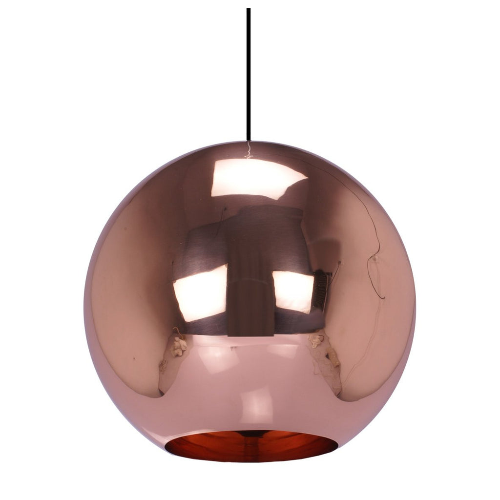 SPHERE PENDANT LIGHT BRIGHT COPPER 30CM
