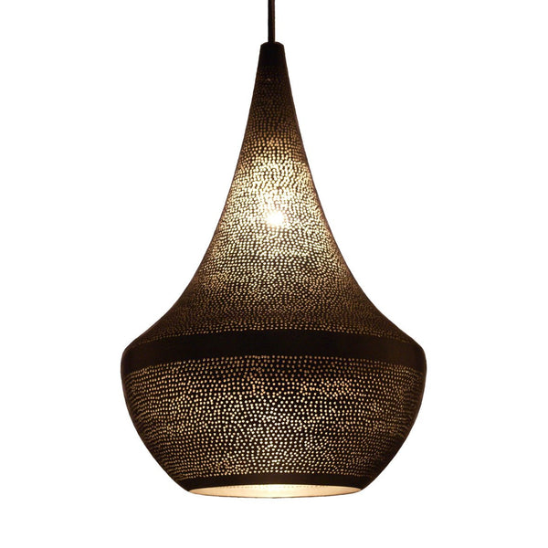 SPIRAL PENDANT LIGHT MATT NICKEL 45CM