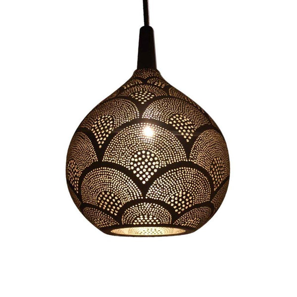 Safi globe pendant decorative pattern - small
