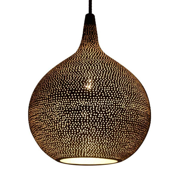 Safi medium moroccan style globe pendants - plain pattern
