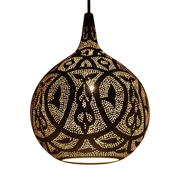 Safi medium moroccan style globe pendants - decorative pattern