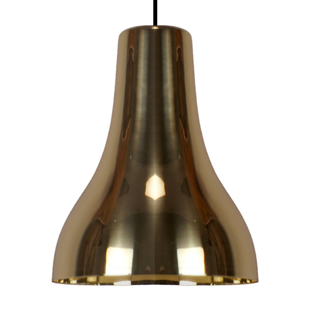 TORCH PENDANT LIGHT BLACK / BRASS 34CM