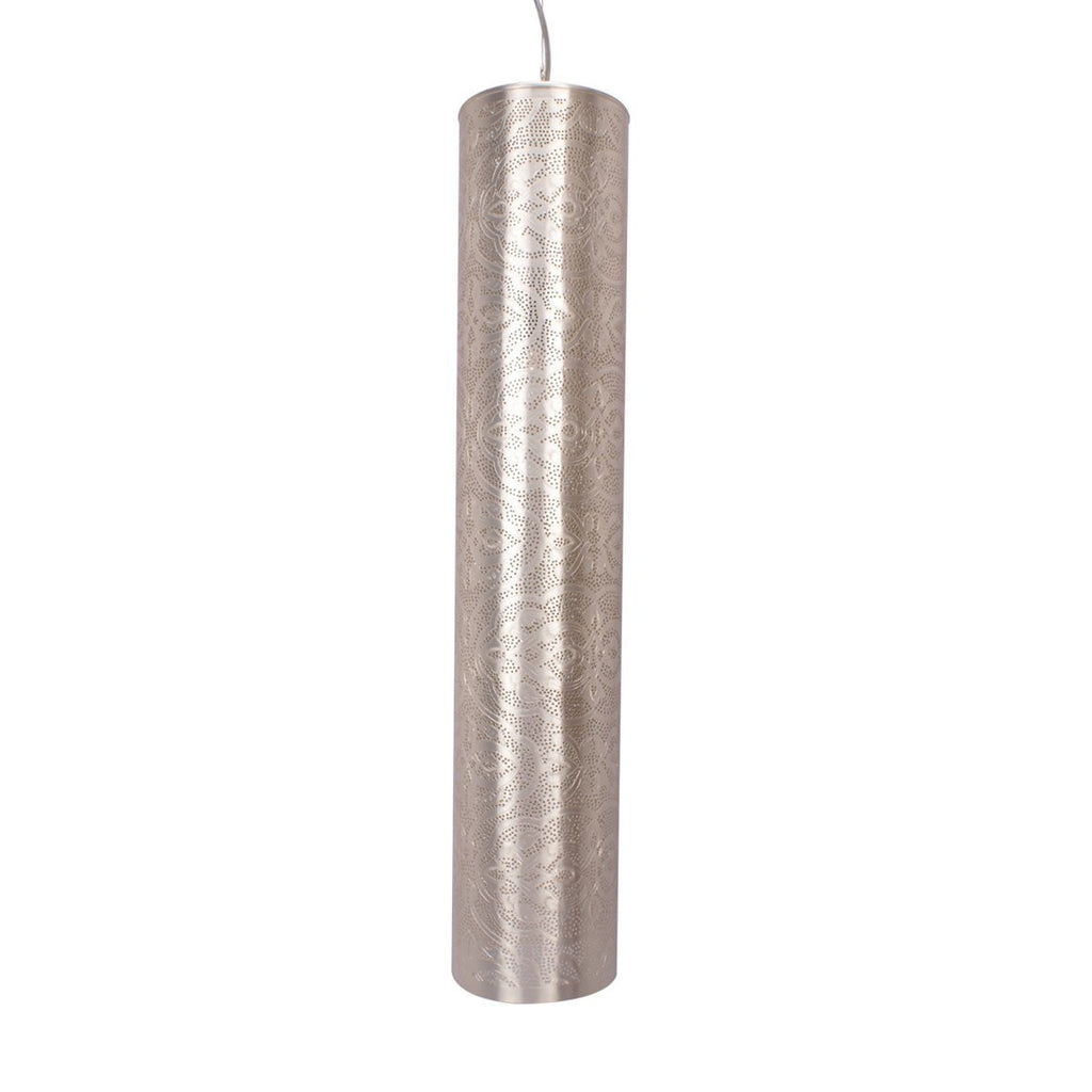 TUBE PENDANT LIGHT MATT NICKEL 82CM