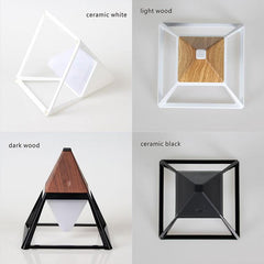 Pyramid table lamp in different color options