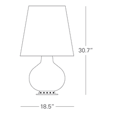 Fontana Table lamp by Max ingrand for FontanaArte drawing large