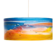 Last Light colorful drum pendant by Rowan chase