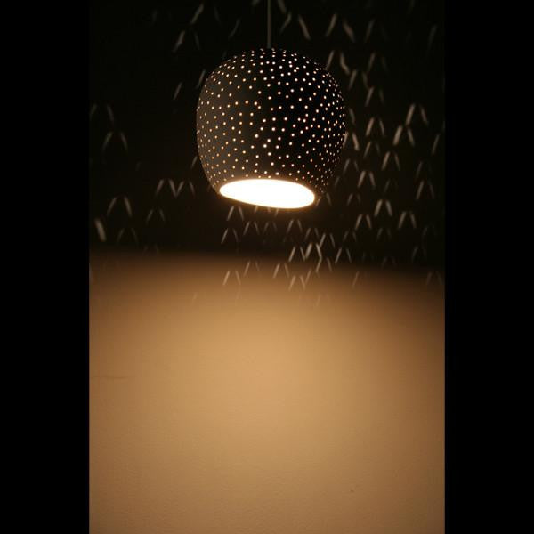 Claylight Symmetrical dot pattern pendant a Ceiling by Lightexture - Lumigado lighting