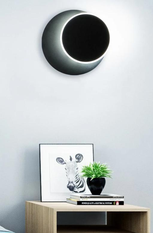 Kiruna adjustable black LED wall light